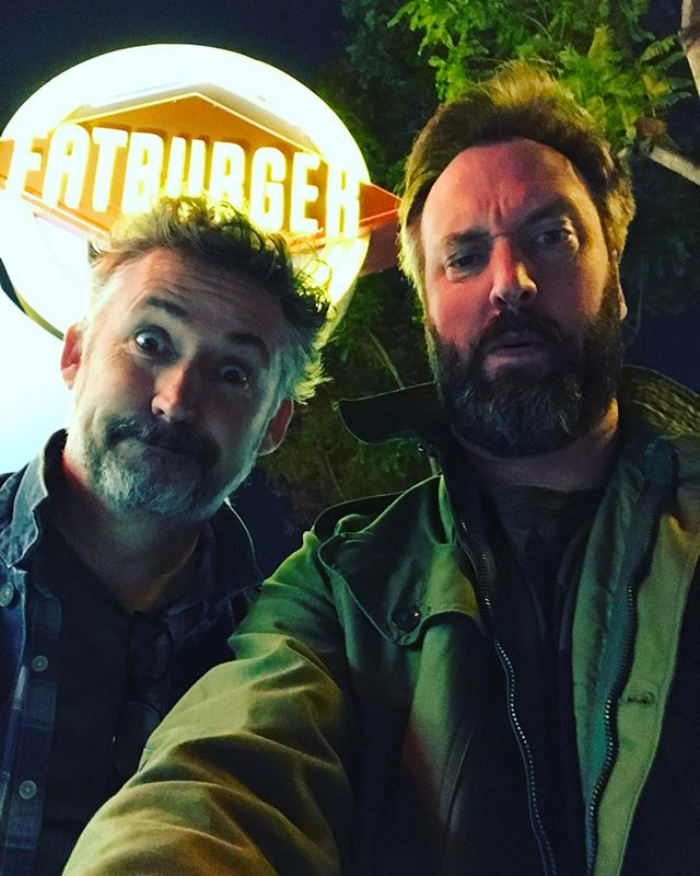 Ate some delicious Fatburger with @harlandwilliams tonight!
