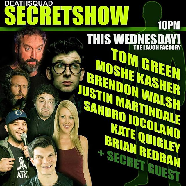 Come check out some awesome stand up night @laughfactoryhw with @deathsquad @redban myself and a whole bunch of hilarious comics!!