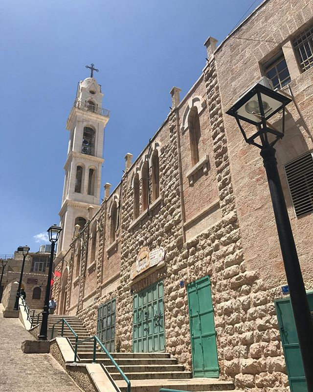 In beautiful Bethlehem, Palestine.  We are walking around the old city of Bethlehem right now.  It is an incredible vibrant place.  I suggest everybody come visit Palestine.  I will be posting more pics and video soon.