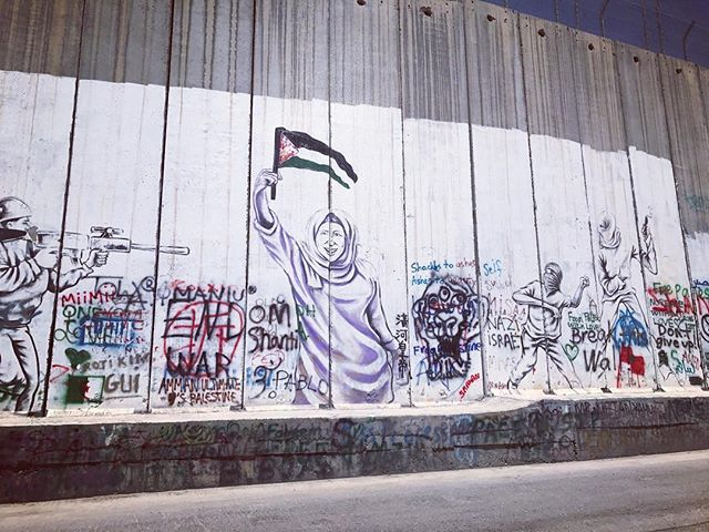 Palestine, West Bank - Mural on Wall