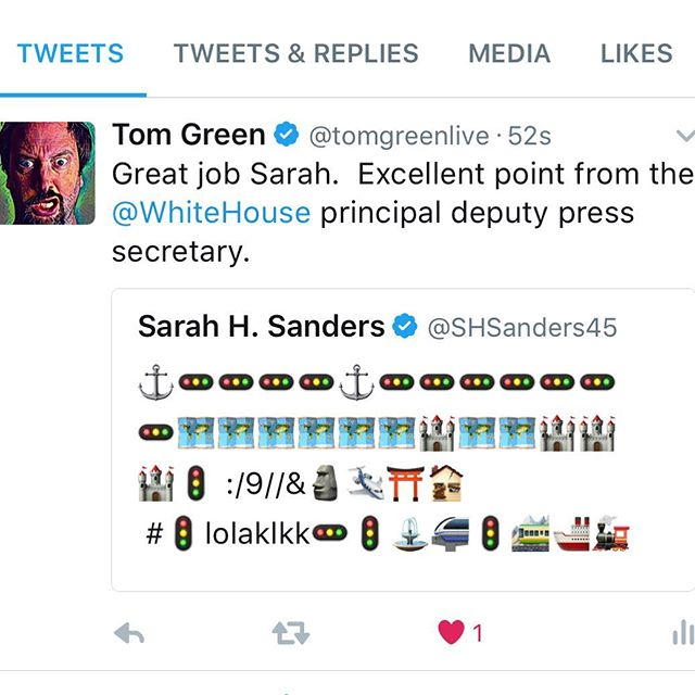 A very real tweet from the real deputy press secretary of the White House today.