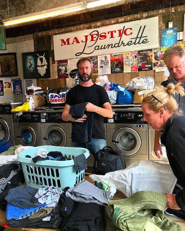 Laundry day.  It sure is glamorous the life of a touring stand up comedian.  I haven't been home in nearly a month.  Today is a good day because I found this great laundry mat.  Clean socks and underwear!  One of life's simple pleasures.
