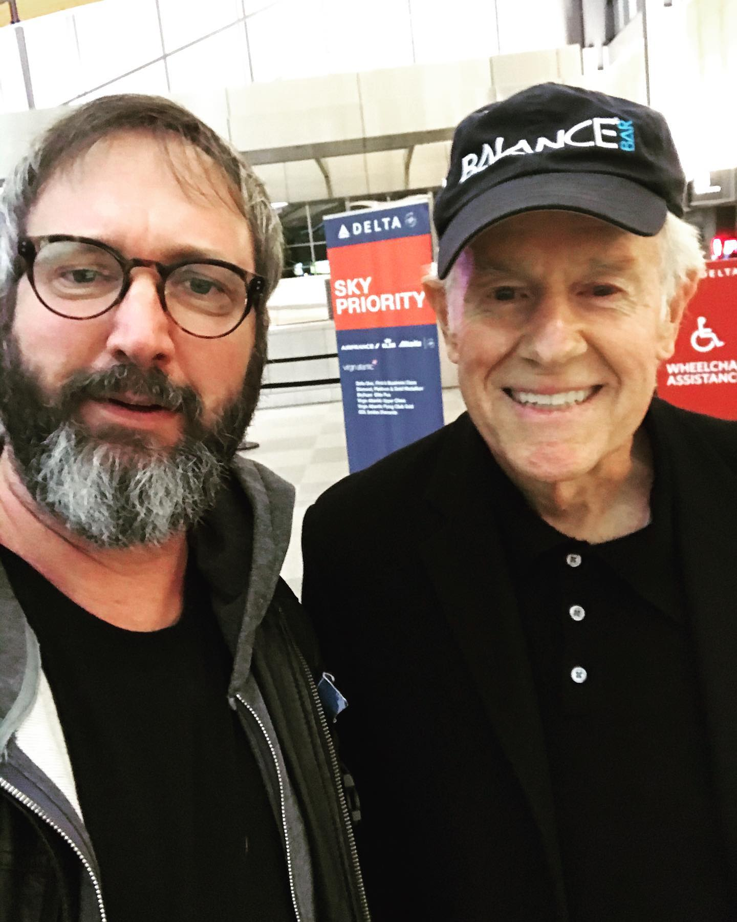 Super cool running into your comedy and acting heroes!  The legendary Mike Farrell was on my flight today and I had to say hello.  Grew up watching literally every day for 10 years.