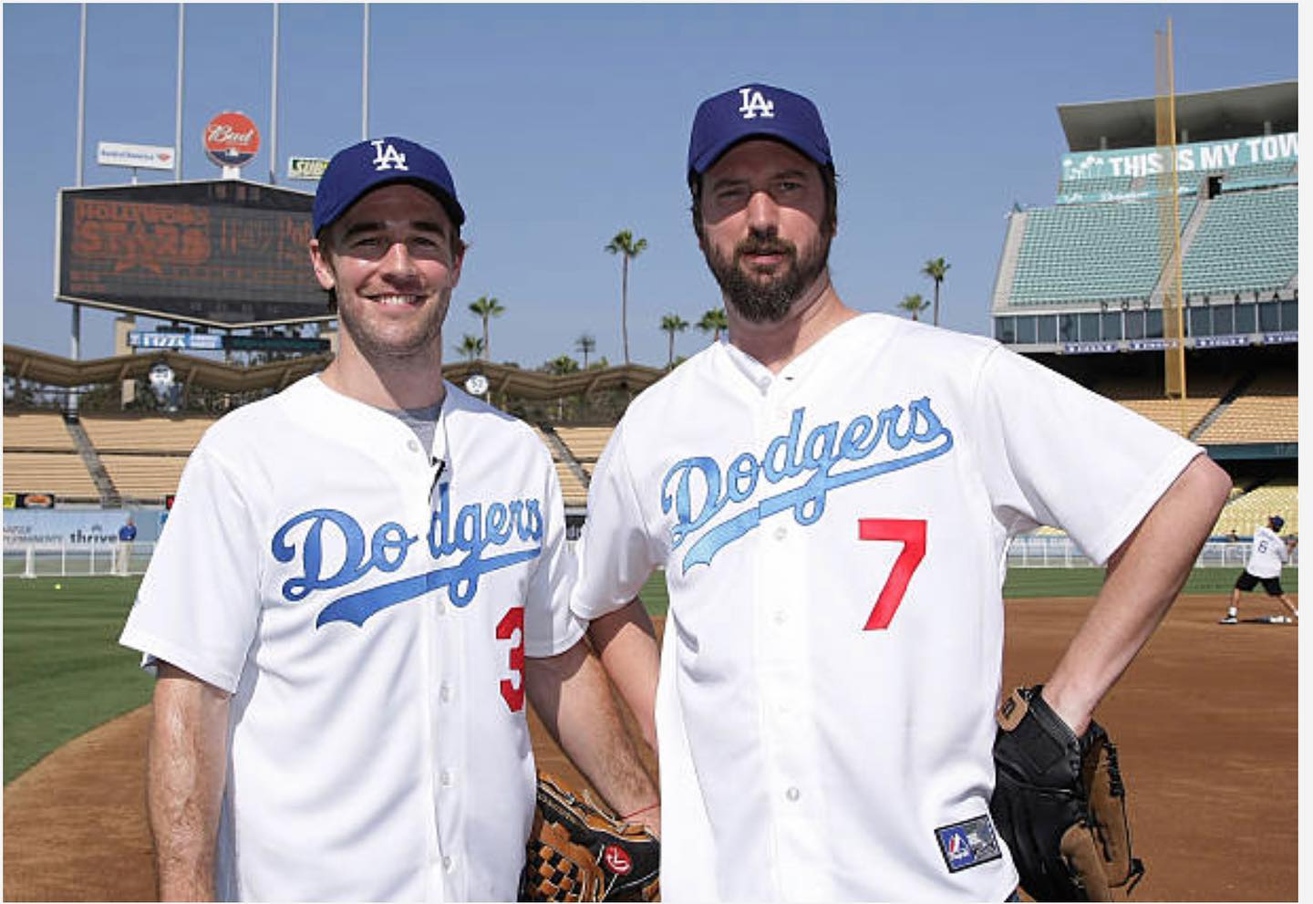 Throw back Thursday The great @vanderjames and I playing some ball @dodgers stadium!  Fun times!  Rock on James!